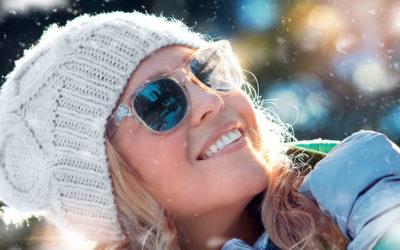 Gafas de sol en invierno.